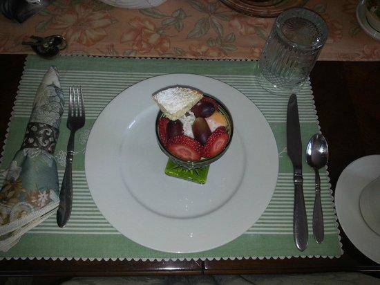 Un cygne blanc Bed and Breakfast : Desayuno