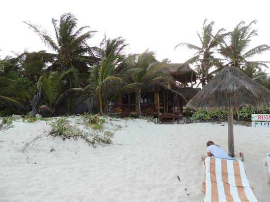 Tita Tulum Hotel Ecologico: cabanas n°5 prise les pieds dans l'eau
