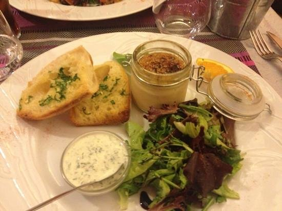 Les lavandes : entrée au foie gras
