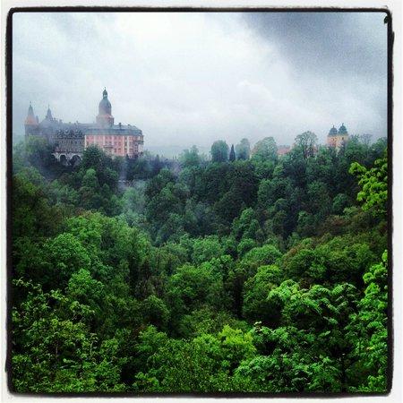 Ksiaz Castle: Вид с смотровой площадки на Zamek Ksiaz