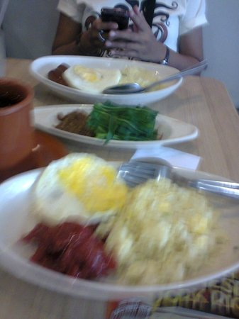 Chowking: tocino with egg