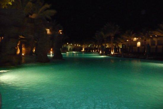 Baron Palms Resort Sharm El Sheikh: my favourite pool at night