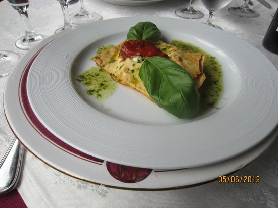 "Le Contrade: Lasagna with ""crispy"" noodles."