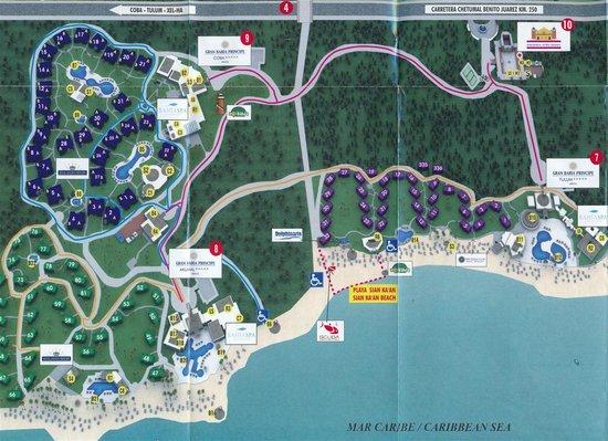 Grand Bahia Map (left side) - Picture of Bahia Principe ...