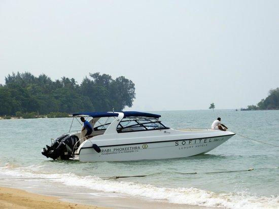 Sofitel Krabi Phokeethra Golf & Spa Resort: Bâteau de l'hôtel.