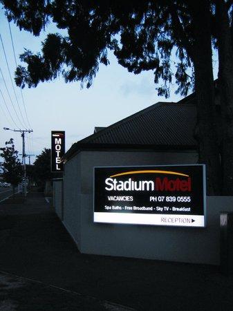 Stadium Motel: Stadium Sign