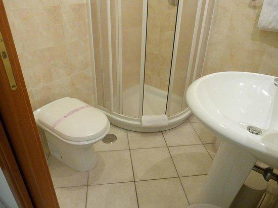 Hotel Domus Praetoria: Baño hab 202