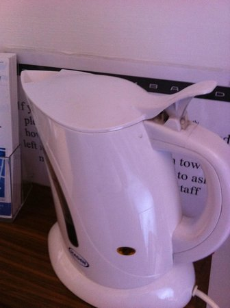 The Lombard Townhouse: Dirty kettle with old smelly water in it