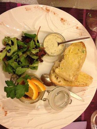 Les lavandes : crème brûlée au foie gras