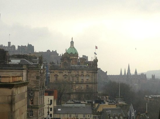 The Scotsman Hotel: View from our room.