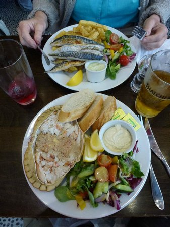 Simply Fish: A beautiful meal of crab and mackerel for two!