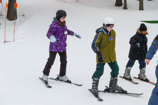 Clymer, Estado de Nueva York: Learning to Ski