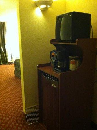 Ramada Wilmington: refrigerator and microwave nice perk