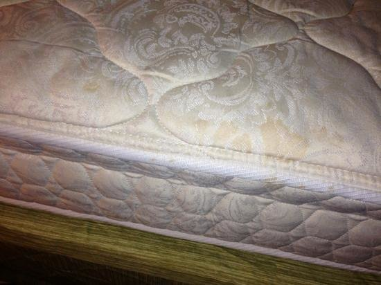 Hampton Inn Birmingham / Mountain Brook : soiled mattress