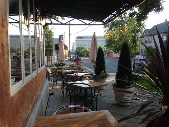 Cafe Dantorels Outdoor Sitting Area