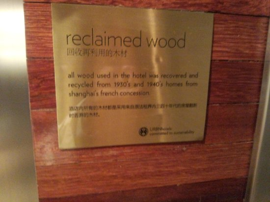 URBN Boutique Shanghai: reclaimed wood sign, nice touch