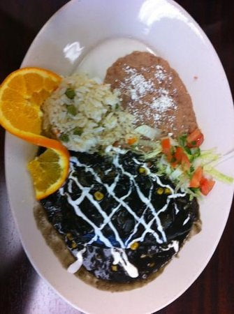 Ranas Mexico City Cuisine : Azteca mashed potato stuffed pepper