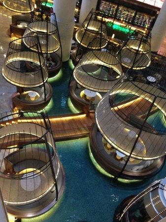 "Pan Pacific Singapore: ""Fish Trap"" atrium"