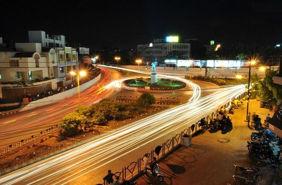 Rajkot, India: Night view