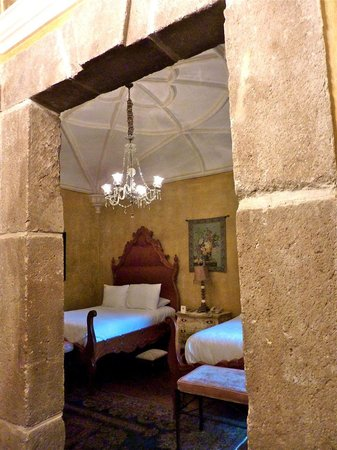 Palacio de Dona Leonor: Stone work throughout the hotel is exquisite; view of our room, #5