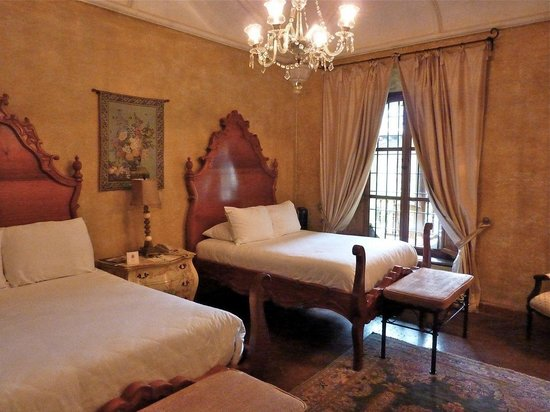 Palacio de Doña Leonor: View of our guest room, #5, Isabela.  Truly sleeping in a palace.