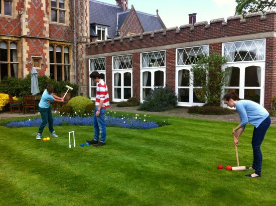 Horsted Place: The croquet garden