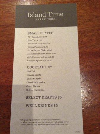 Tommy Bahama's Restaurant & Bar: メニュー