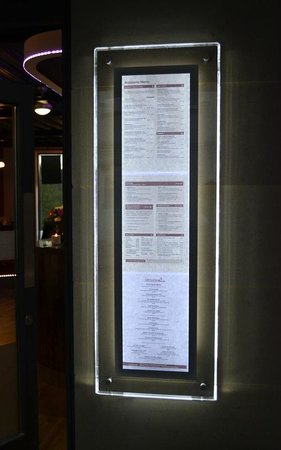Cafe Continental: Menus to suit all