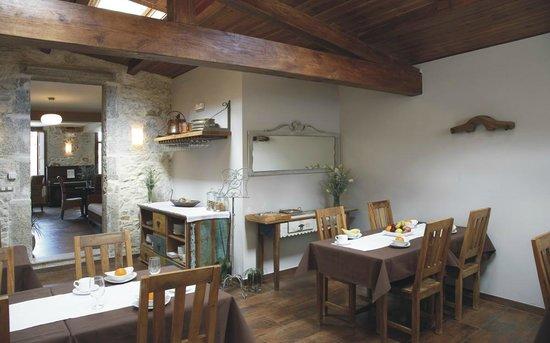 Hotel Rústico Teixoeira: Hotel Rural en Galicia en Rias Baixas comedor desayunos
