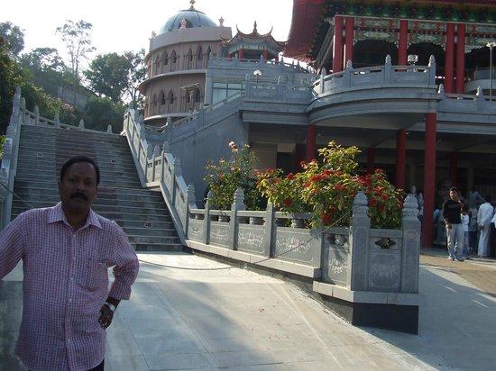Chaitanya Jyoti Museum: infront of Chaitany Jyoti Museum, Puttaparthi