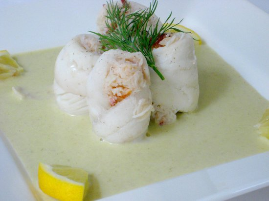 Smithfield Hotel: plaice stuffed with white crab meat