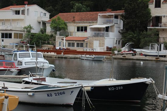 Korcula Waterfront Accommodation: View of the house from across the water