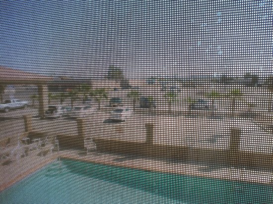 Best Western Parker Inn: Strange non-removable covers on windows, looking onto pool