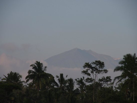 View of Mt Agung from Alam Sari