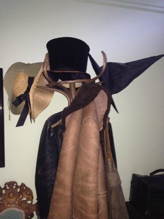 Ingrams: The quirky coat stand in the hallway complete with witches hat!