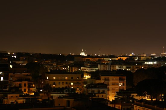 BEST WESTERN Hotel Piccadilly Roma: View from room 706. The white dome is St Peter's Basilica, Vatican City