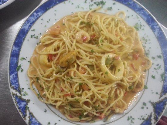 espaguetti marinera: