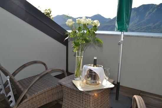 Hotel Ghiffa : champagne in camera