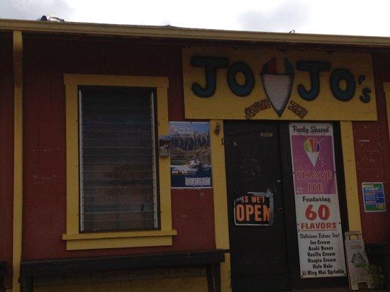 JoJo's Shave Ice: Entrance