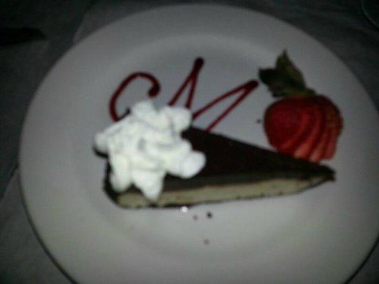 Mauricio's Italian Restaurant : Chocolate Grenache Cheesecake