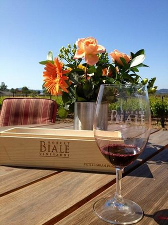 Robert Biale Vineyards: Blue Sky...Orange Flowers...and Red Wine!!!