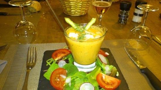 Le Chat Qui Peche : le gaspacho maison, un régal
