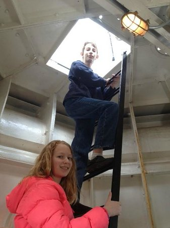 North Point Lighthouse: Up the hatch!