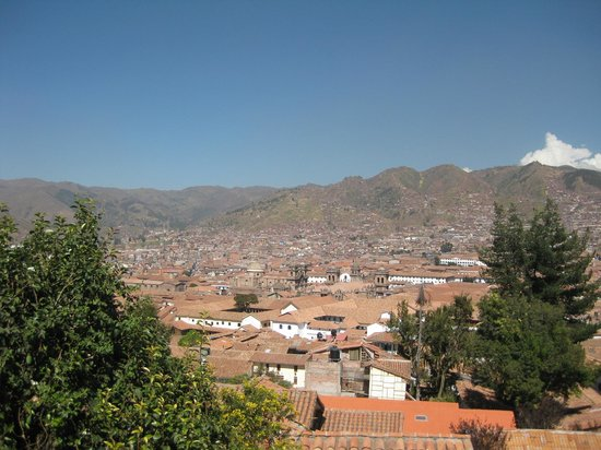 Samay Wasi Youth Hostels Cusco: View from the balcony/patio