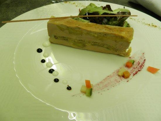 L'Assiette Roannaise : Foie gras marbré aux pommes et pain d'épice