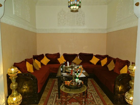 Riad Abaca Badra: Relaxing/lounge area