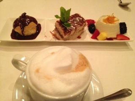 Michael Anthony's Cucina Italiana: Dessert Sampler and Cappuccino @ Michael Anthony