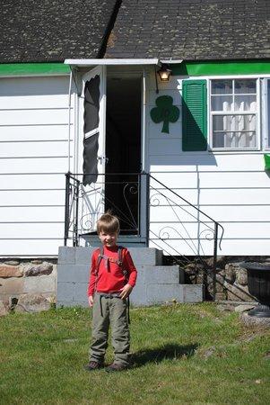 The boys loved the Shamrock Motel