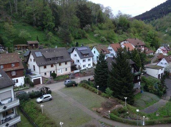 Wellness und Tagungshotel Krahenbad : vista dal balcone
