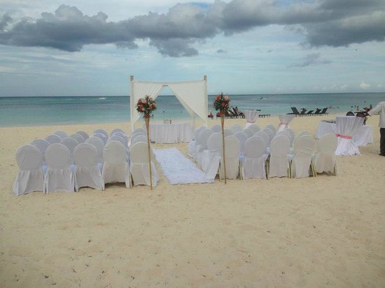 Now Larimar Punta Cana Beach Wedding Set Up